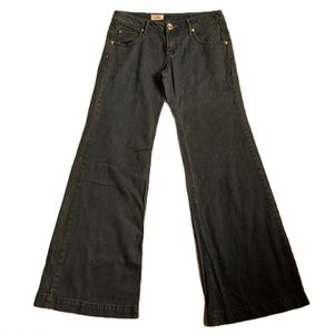 FREE PEOPLE True Wide Leg Rust Wash Flare Jeans